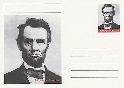 CINDERELLA - 4459 - ABRAHAM LINCOLN  on Fantasy Postal Stationery card