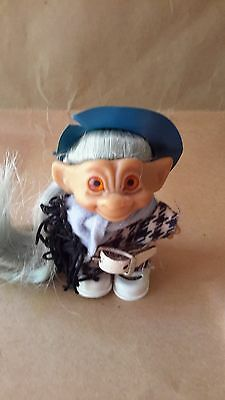 Vintage Rooted Hair Troll Rootie All Original Outfit w/ Belt Shoes Hat