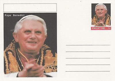 CINDERELLA - 4462 - POPE BENEDICT on Fantasy Postal Stationery card