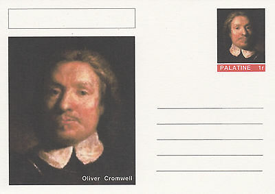 CINDERELLA - 4463 - OLIVER CROMWELL on Fantasy Postal Stationery card