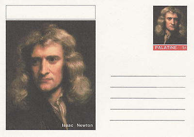 CINDERELLA - 4464 - ISAAC NEWTON on Fantasy Postal Stationery card