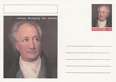CINDERELLA - 4466 - GOETHE on Fantasy Postal Stationery card