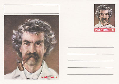 CINDERELLA - 4467 - MARK TWAIN on Fantasy Postal Stationery card