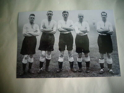 """DERBY COUNTY  5 Players  1930s   Photo  6""""x4"""" REPRINT POST FREE"""