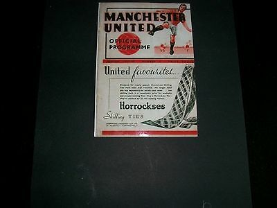 "MANCHESTER UNITED PRE WAR PROGRAMME 1937/1938 Photo  6""x4""  REPRINT"