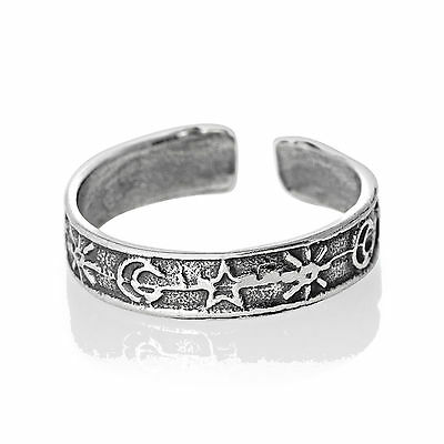 Star Moon Sun Toe Ring Sterling Silver 925 Best Adjustable Jewelry USA Seller