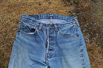 True Vintage Red Line Levis 501 Denim Jeans Size W 30 L 32 1/2