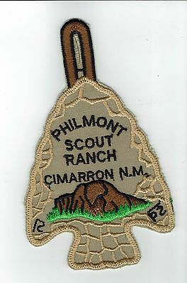 Philmont Scout Ranch  Arrowhead Plastic Back No Twill