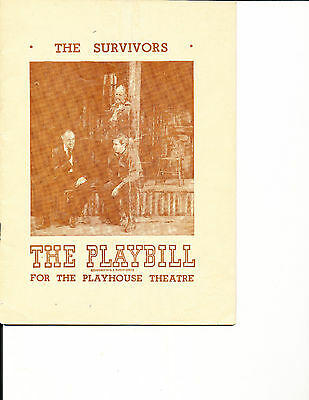 "Opening Night Playbill ""The Survivors"" 1948 NYC RARE 8 Performances"