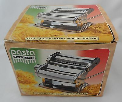 Classic Pasta Machine Chrome Stainless Steel Duo Cutter Pasta Maker