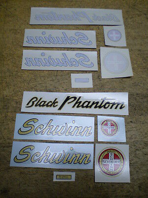 LIQUIDATION SALE! NOS Complete Schwinn Phantom Bicycle Water Transfer Decal Set