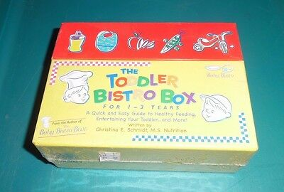 The Toddler Bistro Box For 1-3 Years Menu/Recipes/Activities New Unopened