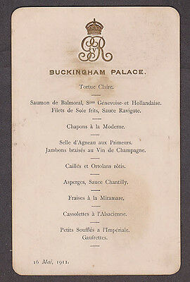 Great Britain  - 1911 Menu for state dinner with Emperor of Germany