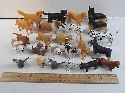 "Schleich & Safari 2""-4"" *dog And A Few Cat Animal 24 Figure Huge Lot*"