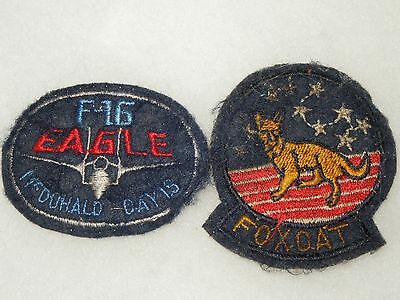 US Military Navy Air Force Foxcat F-16 Patch Lot