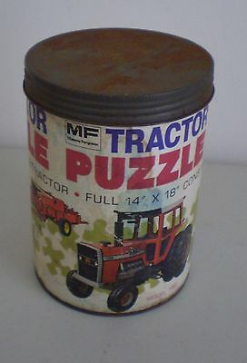 Vintage Massey Ferguson Tractor Puzzle In Canister Model 1155