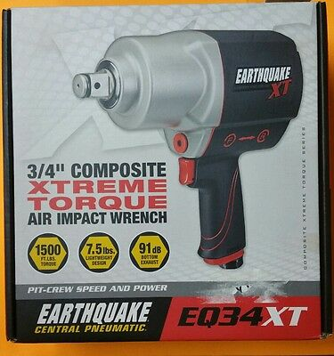 """Earthquake Central Pneumatic 3/4"""" Composite Xtreme Torque Air Impact Wrench"""