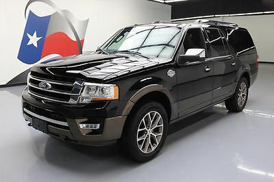 2017 Ford Expedition EL King Ranch Sport Utility 4-Door 2017 FORD EXPEDITION EL XLT ECOBOOST 4X4 SUNROOF NAV 3K #A44656 Texas Direct