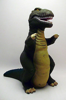 88' Vintage Pizza Hut Promo Land Before Time SHARPTOOTH T-Rex Rubber Puppet L@@K