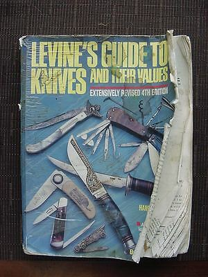 Old Well Used LG4 LEVINES GUIDE TO KNIVES 4TH Ed Price Guide Definitive Book!
