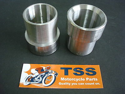 0076 Triumph Exhaust Flange Adapter Kit Pair 750 T140 - To - 650 T120