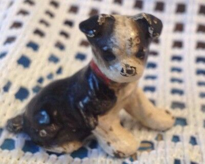 Vintage Cast Iron Paperweight Place Card Holder - Boston Terrier - Hubley