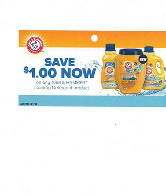 COUPONS SAVE 10 X $1  on ARM & HAMMER LAUNDRY DETERGENT  - CANADA ONLY