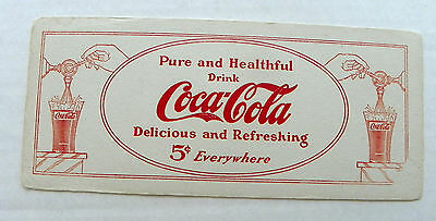 "1920 ""pure & Healthful ~ Drink Coca-Cola"" Filling Two Flare Coke Glasses Blotter"