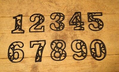 """Vintage-Style Cast Iron Address Numbers 4 5/8"""" tall (Set of All Ten) 0184S-0558"""