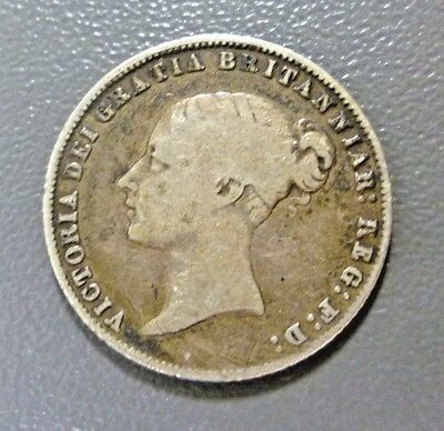 Great Britain 1860 Silver Six Pence