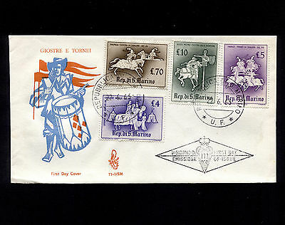 OPC 1963 San Marino Medieval Knightly Games FDC