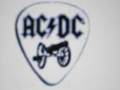 Ac/dc For Those About To Rock White With Black Logo Cannon 4 Guitar Pick Set