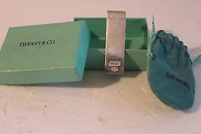Tiffany & Co. (T & Co.) Sterling Money Clip 1837 With Bag & Box