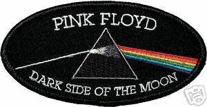 """Pink Floyd Dark Side Of The Moon Dsom Logo 4""""x2"""" Oval Embroidered Patch New"""