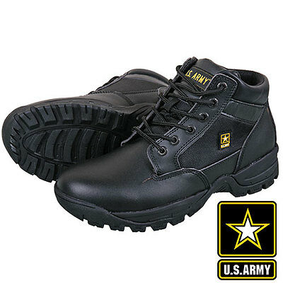 US Army Black Leather/Nylon Military Boots - Men's size 10