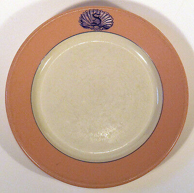 1930s Vintage BUFFALO CHINA Pink Restaurant Hotel SALAD PLATE S in Shell MIAMI