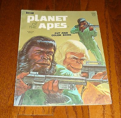 1974 Planet of the Apes Cut and Color Book, un-used! Artcraft, NICE!