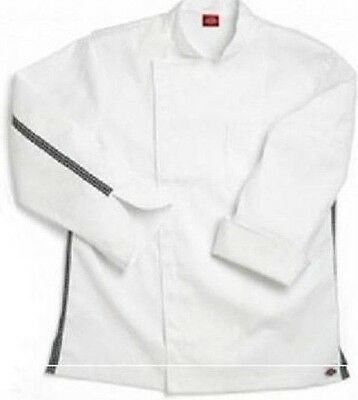 Dickies Executive Chef Coat White Checkered Trim CW070301 Size 50 Disc Style New
