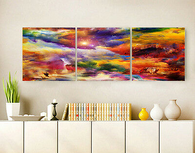 Modern Abstract Wall Decor Art Oil Painting Vintage City On Canvas No Frame 011