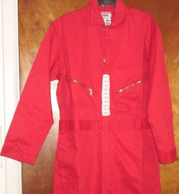 Coveralls/OVERALLS SAFETY RED Walls Cotton Twill WORK UNIFORM SIZE 40 REGULAR