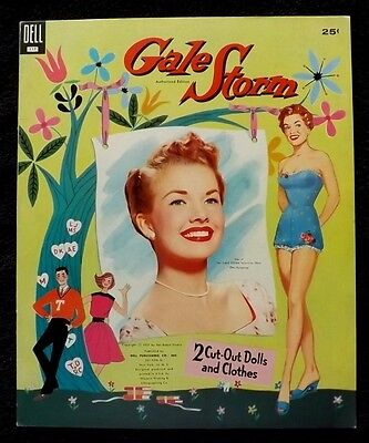 RARE VINTAGE ORIGINAL 1957 GALE STORM PAPER DOLLS UNCUT DELL my little margie