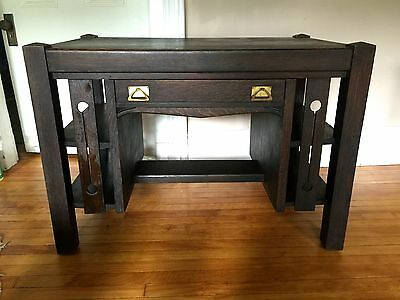 Arts & Crafts Stickley Mission Style Desk Writing~Bookcase Ends