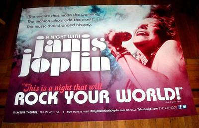 A NIGHT WITH JANIS JOPLIN BROADWAY NYC 5ft subway POSTER