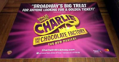 CHARLIE AND THE CHOCOLATE FACTORY BROADWAY NY 5ft SUBWAY POSTER WILLY WONKA 2017
