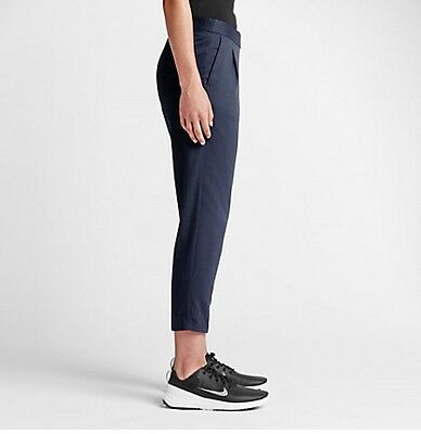 NIKE Golf Major Moments Golf Cropped Dri Fit Pants Midnight Navy 4 $110