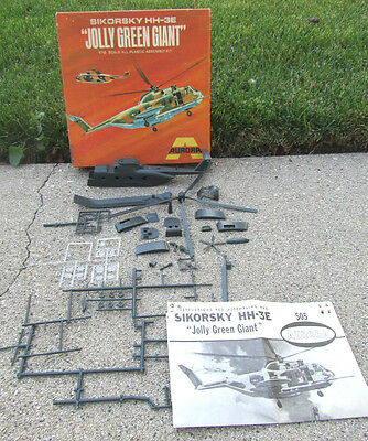 Vintage 1969 Aurora Sikorsky Hh-3E Jolly Green Giant Helicopter Model Kit 1/72