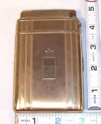 MARA-KING BY MARATHON CIGARETTE CASE WITH LIGHTER 1930s GOLD PLATED