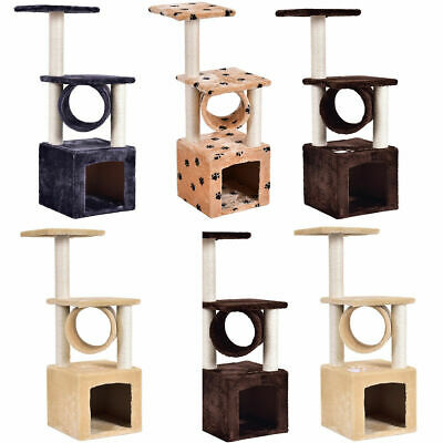 "Deluxe 36"" Cat Tree Condo Furniture Play Toy Scratch Post Kitten Pet House"