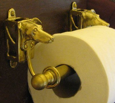 GREYHOUND / WHIPPET Bronze Toilet Paper Holder OR Paper Towel Holder!