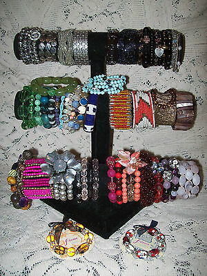 50 Piece Vintage & Modern Mixed Beaded Bracelet Lot